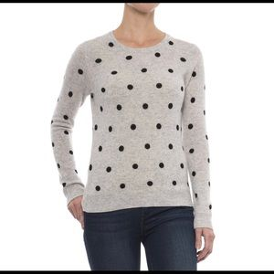 Cynthia Rowley Cashmere Polka Dot Sweater